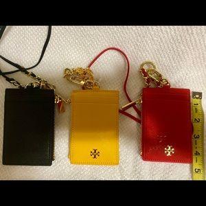 Tory Burch card holder/ lanyard